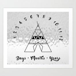 Metallic Tepee - Milestones to Remember Art Print