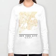 NEW YORK CITY NEW YORK CITY STREET MAP ART Long Sleeve T-shirt