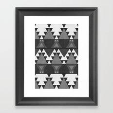Aztec Grey Framed Art Print