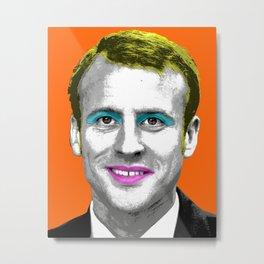 Marilyn Macron - Orange Metal Print