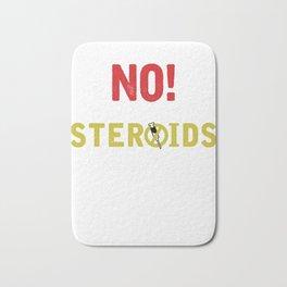 Barbells Bodybuilder Gym Weightlifting No Steroids Weightlifter Gift Bath Mat