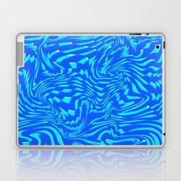 Pattern Blue Mint Abstract Art Chaos Lines Digitalart Gift Laptop & iPad Skin