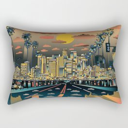los angeles city skyline Rectangular Pillow