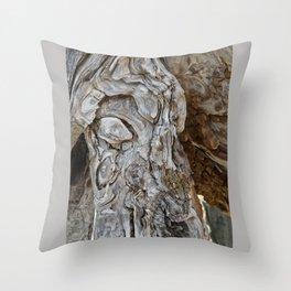 wood skin Throw Pillow