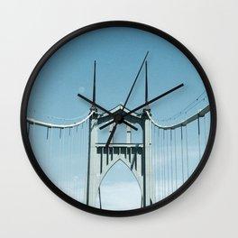 St. Johns Bridge Portland, Oregon Wall Clock