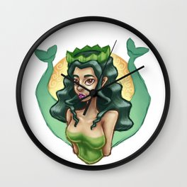 Two-Tailed Siren Wall Clock