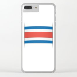 Flag of Costa Rica. The slit in the paper with shadows. Clear iPhone Case