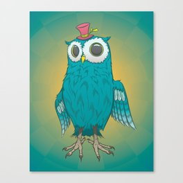 Tophat Owl Canvas Print