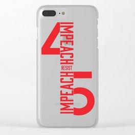 RESIST / IMPEACH 45 Clear iPhone Case