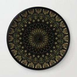 Detailed mandala in light and dark brown tones Wall Clock