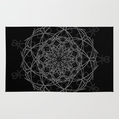 mandala in black Rug