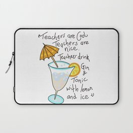 Teachers are cool , education poetry Laptop Sleeve