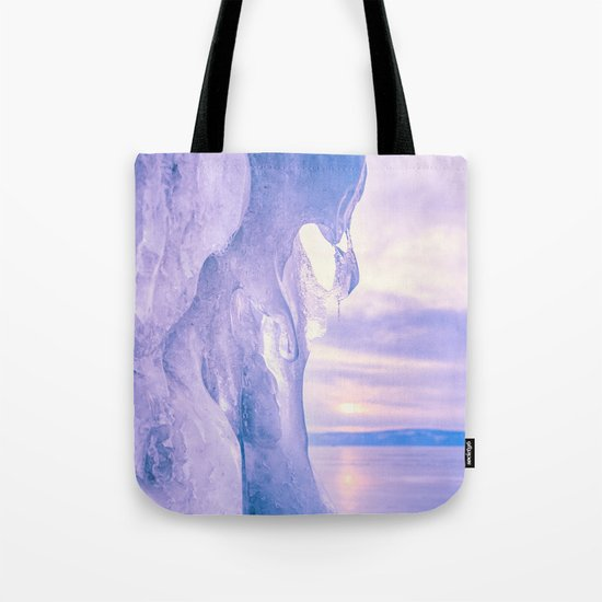 Ice cliff of Lake Baikal Tote Bag