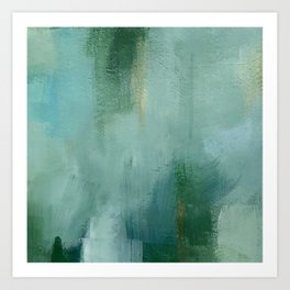 Abstract Blue and Green Colorscape Art Print