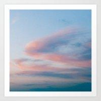 Cloud Swirl Square Art Print
