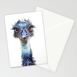 Luminous Emu Art Stationery Cards