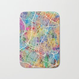 Austin Texas City Map Bath Mat
