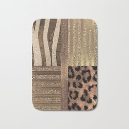 Gold Lioness Safari Chic Bath Mat