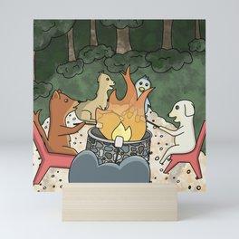 Bonfire with Friends Mini Art Print