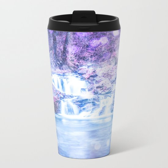 Mermaid Waterfall Metal Travel Mug