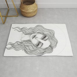 JennyMannoArt GRAPHITE DRAWING/GRACE Rug