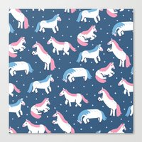unicorns Canvas Prints featuring Unicorns by Sara Maese