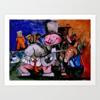 political Art Prints featuring Political Circus by eVol i