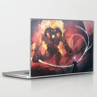 gandalf Laptop & iPad Skins featuring Gandalf vs Balrog by Kenwoodh
