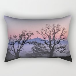 Through the trees to Glastonbury Rectangular Pillow