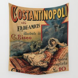 Constantinople Italian vintage book advertisement Wall Tapestry