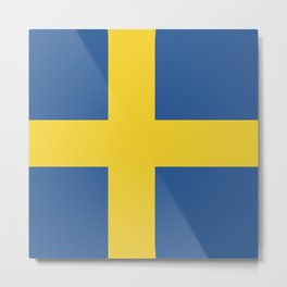 Sweden flag emblem Metal Print