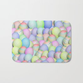 Pastel Colored Easter Eggs Bath Mat