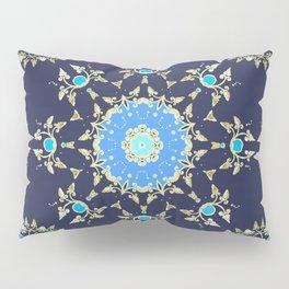 Golden and blue pattern Pillow Sham