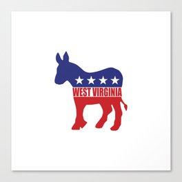 West Virginia Democrat Donkey Canvas Print