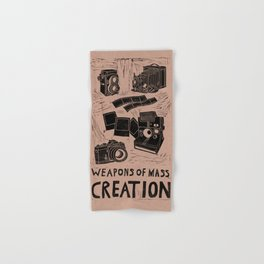 Weapons Of Mass Creation - Photography (blk on brown) Hand & Bath Towel