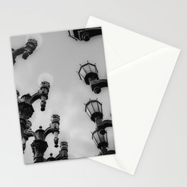 Urban Light at LACMA Los Angeles California USA in black and white Stationery Cards
