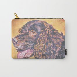 American Water Spaniel dog portrait from an original painting by L.A.Shepard Carry-All Pouch
