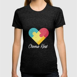 Choose Kind Colorfull Heart graphic Autism Awareness T-shirt