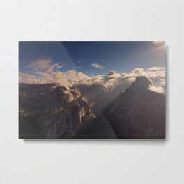 Sunrays Over Half Dome Metal Print