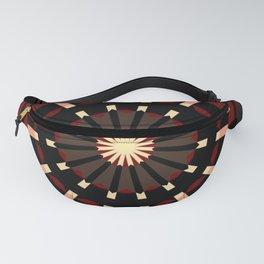Dart Board Inspired Pattern Design Fanny Pack