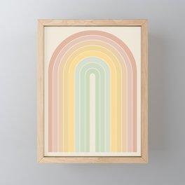 Gradient Arch - Rainbow IV Framed Mini Art Print