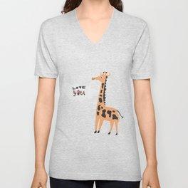 Love Giraffe Unisex V-Neck