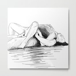 sex by the sea Metal Print