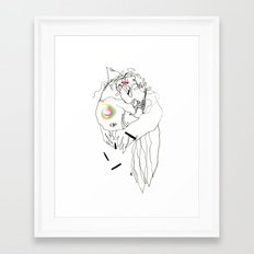 Air Tectonic - Ink and Pastel Drawing Framed Art Print