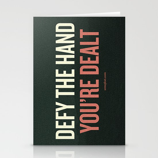 Defy the Hand You're Dealt Stationery Cards