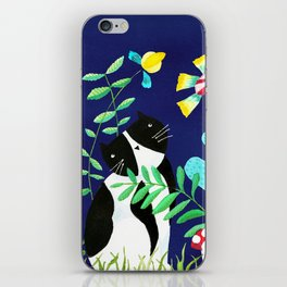Oh Happy Day cat iPhone Skin