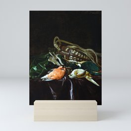Willem van Aelst Still Life with Dead Birds and Game Bag Mini Art Print
