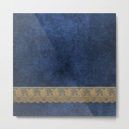 Blue Lace Velvet 04 Metal Print