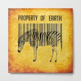 The encoded zebra Metal Print
