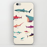sharks iPhone & iPod Skins featuring Sharks by Simon Alenius